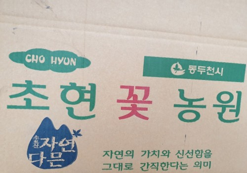 초현꽃농원 박스가 찍힌 모습